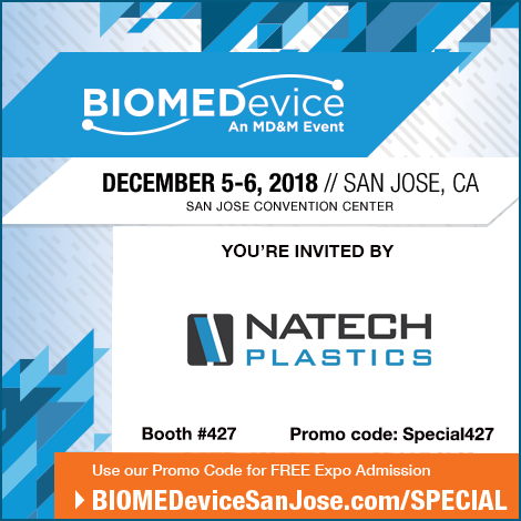 Natech is Exhibiting at BioMeDevice San Jose 2018